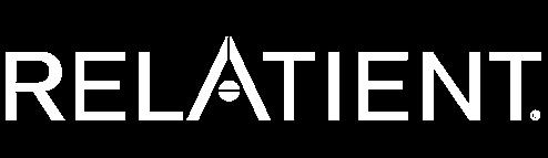 Relatient logo - white