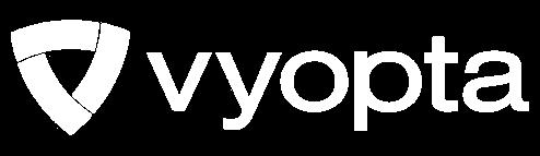 Vyopta logo - white